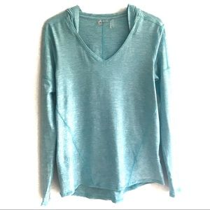 ZELLA Blue Hooded Pullover Top Size M